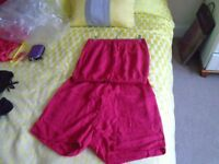 Raspberry soft material playsuit from Next