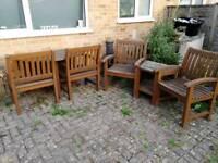 Garden furniture + love seat