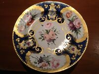 Eight vintage hand painted plates - fantastic condition