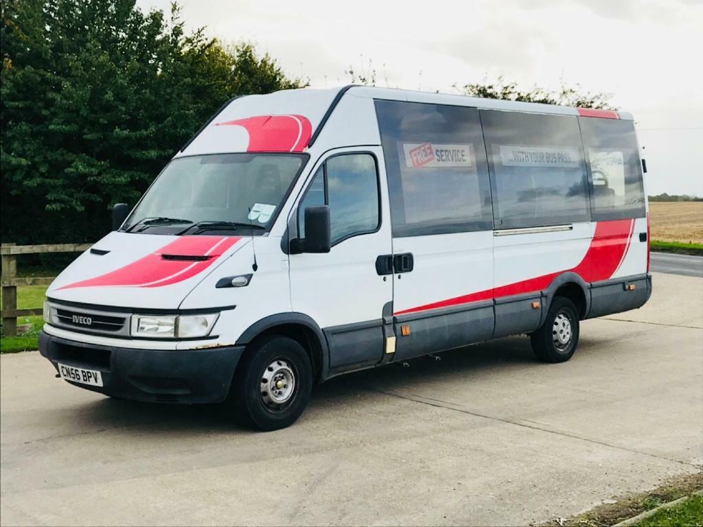 IVECO DAILY 35S13 2.3 HPI LWB HI ROOF 2007(56)REG**MINIBUS**FULL SERVICE HISTORY**