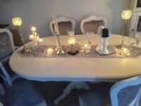 French style dining table/chairs