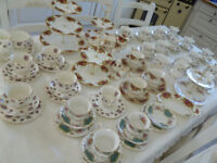 Royal Albert collection trios cups cake stands cake plate old country roses various patterns