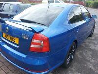 08 SKODA OCTAVIA VRS 2.0 TDI DIESEL BLUE, PRIVATE VRS PLATE. 4SALE SWAP PART X,, BMW VW AUDI ST GTI