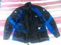 Akito all weather motorbike jacket with zip out liner Size M