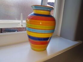 Colourful vase