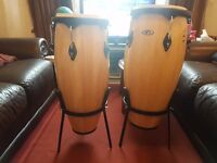 Conga CP Drums Pair & Accessories For Sale