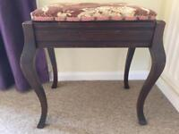 Wooden piano stool