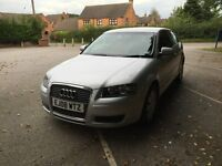 Audi A3, excellent condition. 2008, 73000 miles, 1.6 engine, 3 door, silver. Derby. £4400