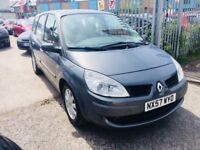 RENAULT GRAND SCENIC 7 SEATERS 1.6 PETROL MANUAL DYNAMIQUE MPV SILVER 2008