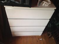 (SOLD PENDING COLLECTION) White Malm Ikea Chest of Drawers