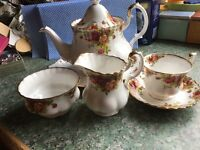 Royal Albert Tea set, complete 22 piece set. Immaculate condition.