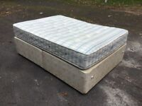 Quality SEALY Posturepedic Double Bed With Sprung Base In Excellent Condition Can Deliver