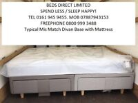 Brand new King-Size Silentnight Drawer Divan Beds & Airsprung Mattress. Will Split. FREE DELIVERY!