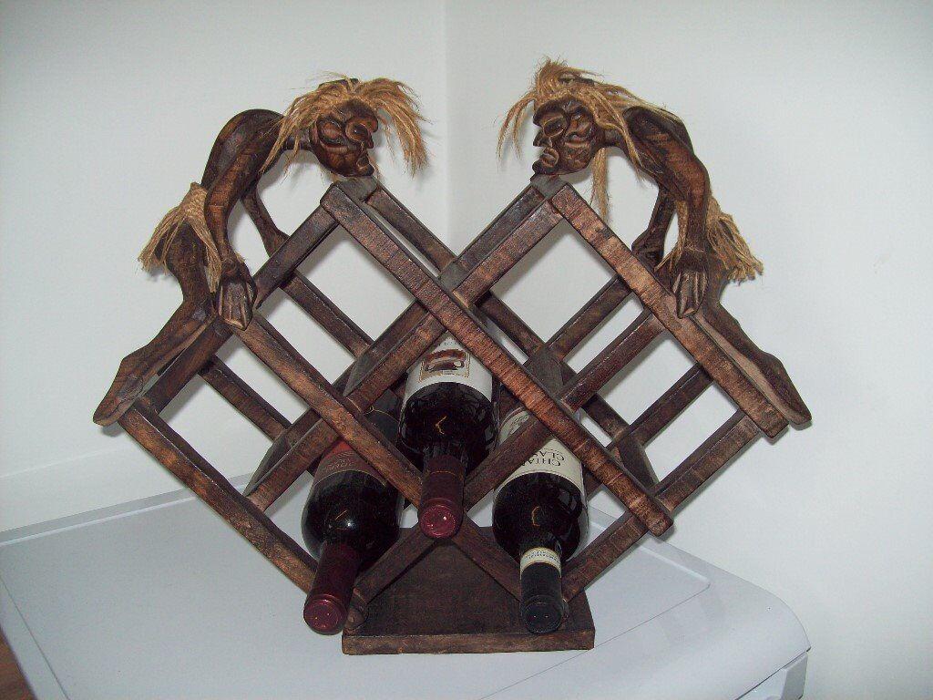 Unusual Wooden Wine Rack