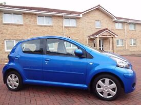 *SOLD* 12 MONTH WARRANTY! (2009) TOYOTA AYGO BLUE 5 DR Local Lady Owned - Genuine 25,000 Miles - FSH