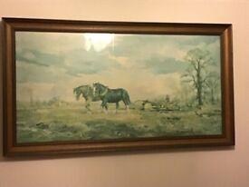 Alan Crawshaw shire horses print