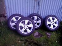 4 Toyota Genuine 16 in alloys excellent condition, with tyres