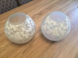 2 x IKEA PENDANT LAMP SHADES with installation