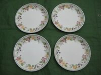 4 Crown Lane Quality Earthenware Matching Dinner Plates for £3.00