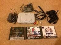 PlayStation one slim 3 games, all leads, ps2 controller