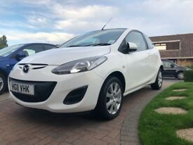 Mazda TS2, 2011, 1.3L, 3dr, White, LOW MILEAGE, MAZDA SERVICE HISTORY, NEW MOT, 2 OWNERS. LOW PRICE.