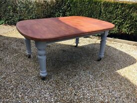Beautiful vintage solid wood dining table
