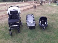 Britax b smart travel system in great condition