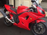Triumph Daytona 600. A 2005 model on a 54 plate. 600 cc.