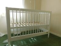 cot and changing table Mamas and Papas