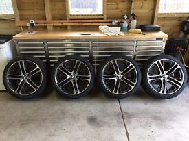"Genuine BMW 310m 20"" Alloy Wheels and Tyres with TPMS All Brand New Will Fit BMW X4 or X3"