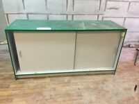 FREE glass cabinet for shop storage