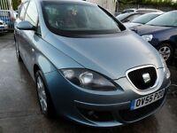 seat toledo styance 1.6 5 door dec 2005 petrol drives 100% full years mot