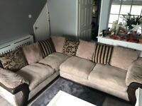 Mink corner sofa and chair