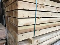 Wooden railway sleepers pressure treated
