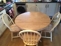 York Table & 4 Windsor Chairs