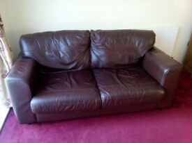 2 x Leather Sofas for Sale