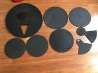 Drum Silencers/Practise Pads 8 pieces inc Bass