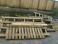 Loads of pallets and scrap wood