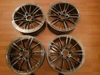 "BMW MV3 18"" ALLOY WHEELS COMPLETE SET OPEN TO ALL OFFERS"