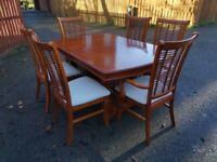 Bently Designs Venetian Cherry Wood Ext Table & 6 Chairs FREE DELIVERY 499