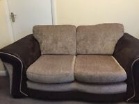 DFS two seater sofa and three seater sofa bed