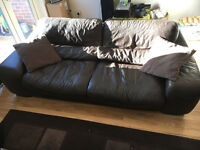 2x Large leather sofa's for sale (3 seater and 2 seater choc brown great condition)