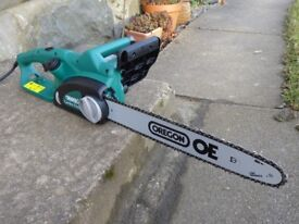 """DRAPER 16"""" 1800W ELECTRIC CHAINSAW CS1800 (35485) WITH OREGON BAR AND CHAIN"""