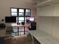 Desk Space Available on Hoxton Street.