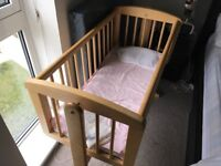 Mothercare mini crib with swing