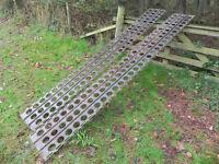 Ex military sand tracking / Marston matting, 2 full 10' lengths undamaged