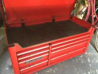 Snap on toolbox top box