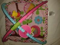 Baby gym playmat In excellent condition with vibrating hanging toy and mirror