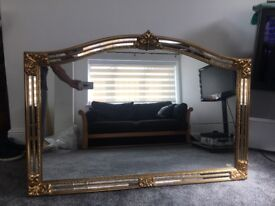 Stunning Ornate gold Belgium mirror.