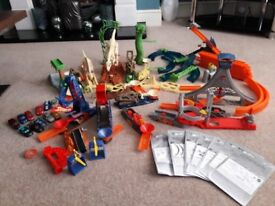 Various Hot Wheels Sets with plenty of track and cars - Excellent Condition